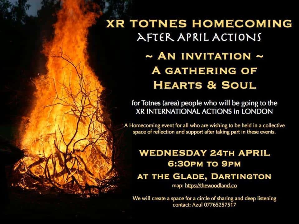 XR Totnes ~ Homecoming Event